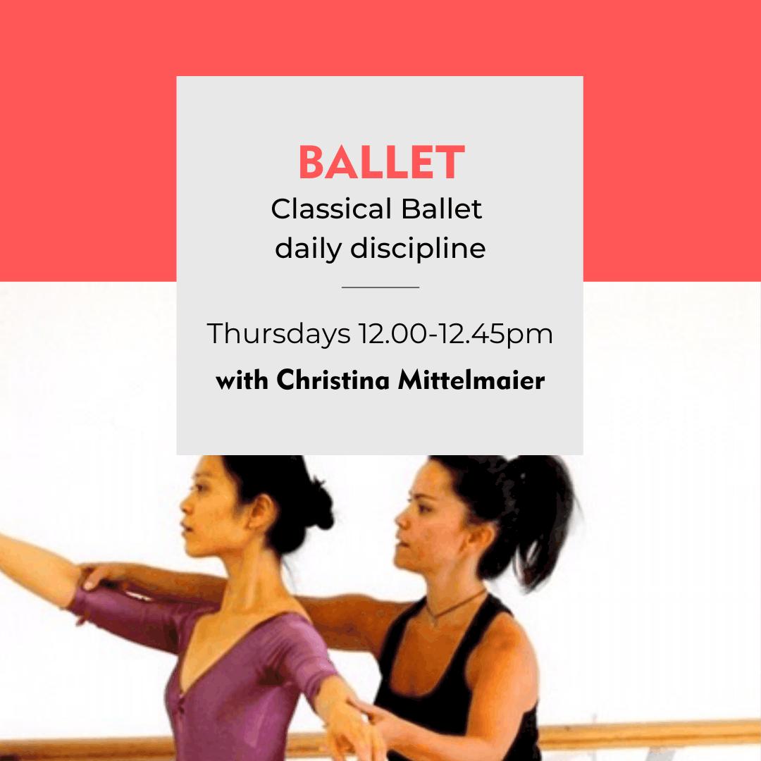 Danceworks #instagramlive weekly Ballet class