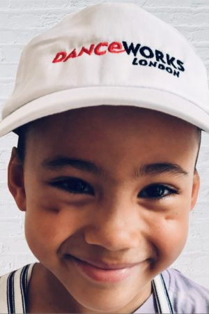 Danceworks_White_Branded_Cap_for_kids