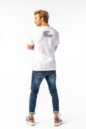 Danceworks White Classic T-shirt for men DW0011WBO at Danceworks shop in London
