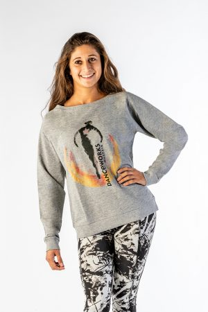 Danceworks Grey Oversized Sweatshirt/Jumper for women DW0012GBO at Danceworks shop in London