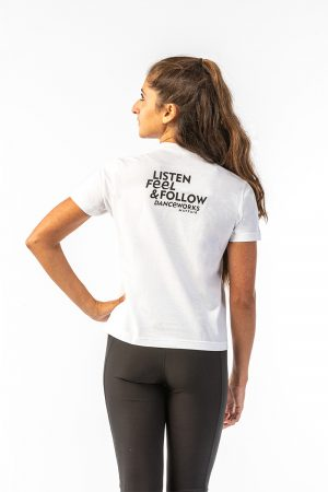 Danceworks White Classic Tee for women DW009WBO at Danceworks shop in London