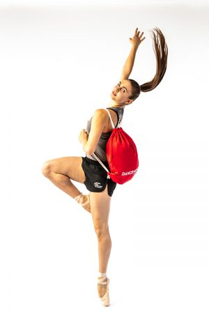 Red Drawstring Bag DW014RAE at Danceworks shop in London