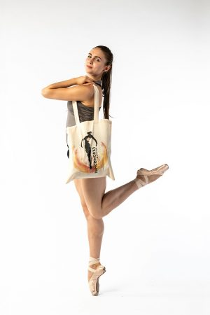 Cream Tote Bag DW015CAE at Danceworks shop in London
