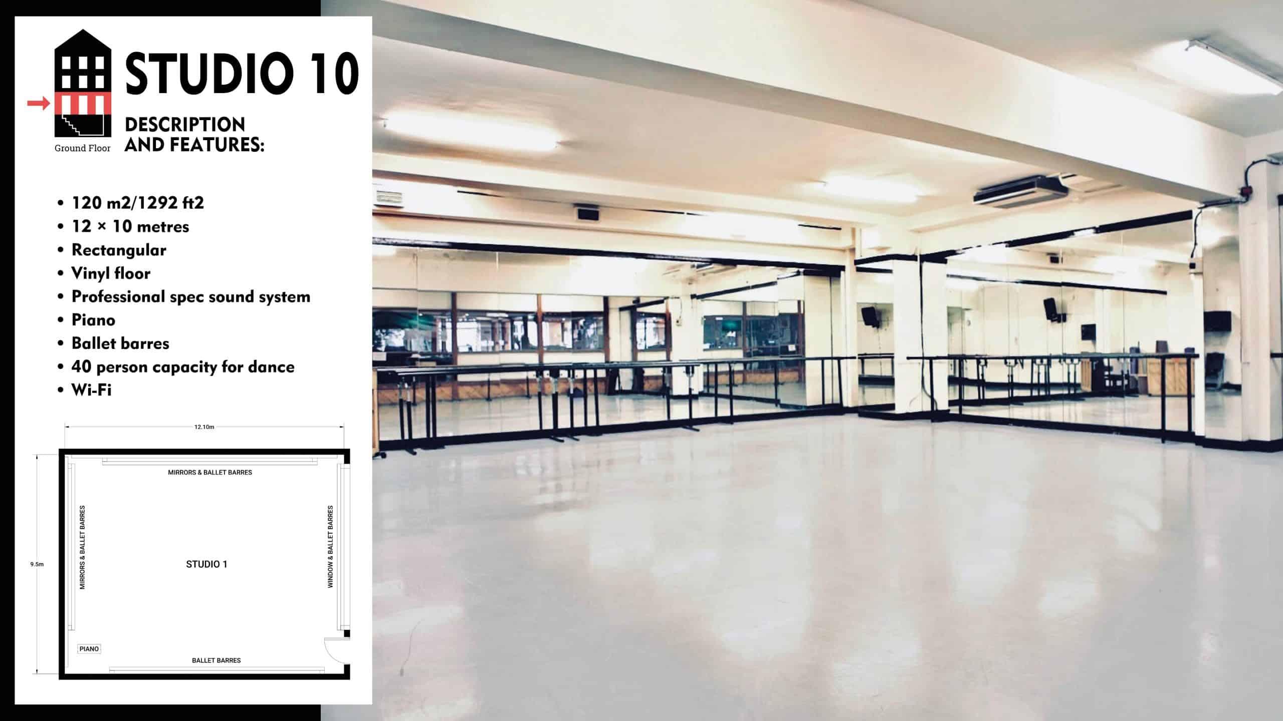 #Danceworks Studios 10 to Hire in London