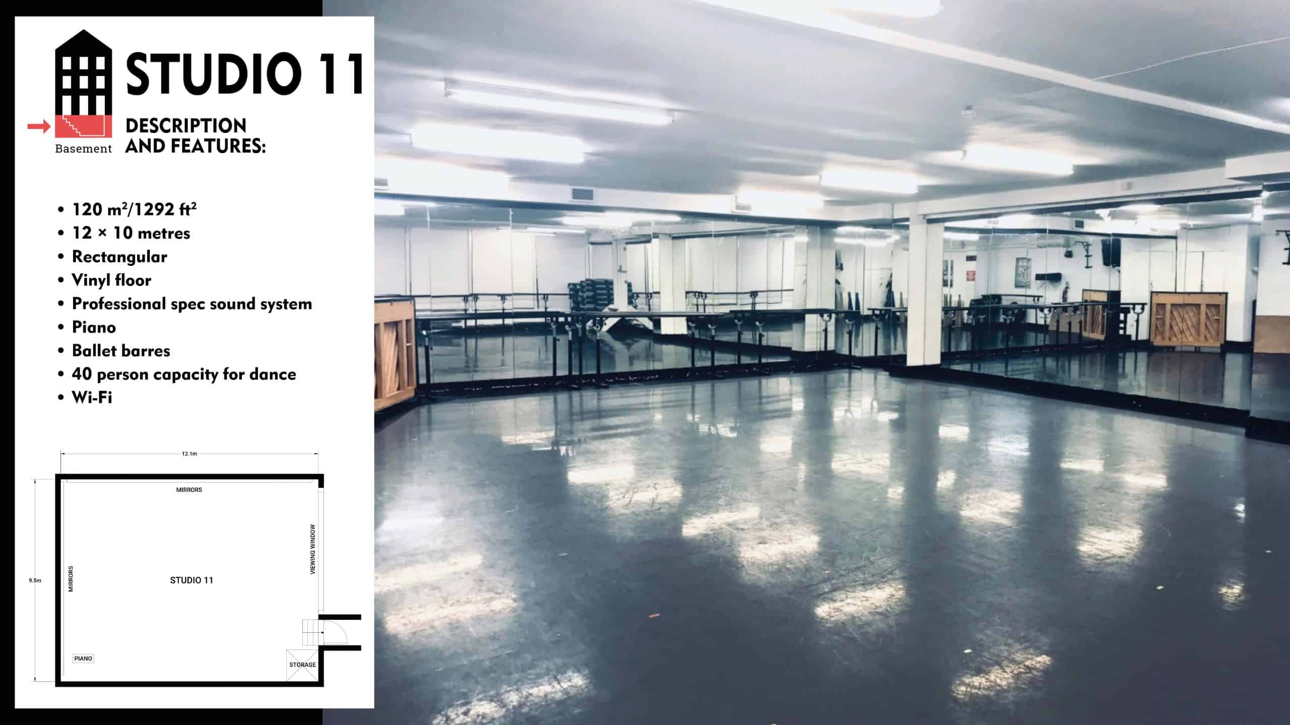 #Danceworks Studios 11 to Hire in London