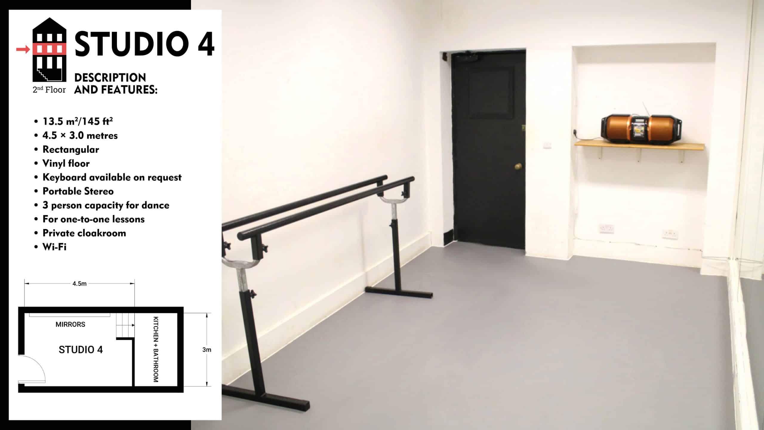 #Danceworks Studios 4 to Hire in London