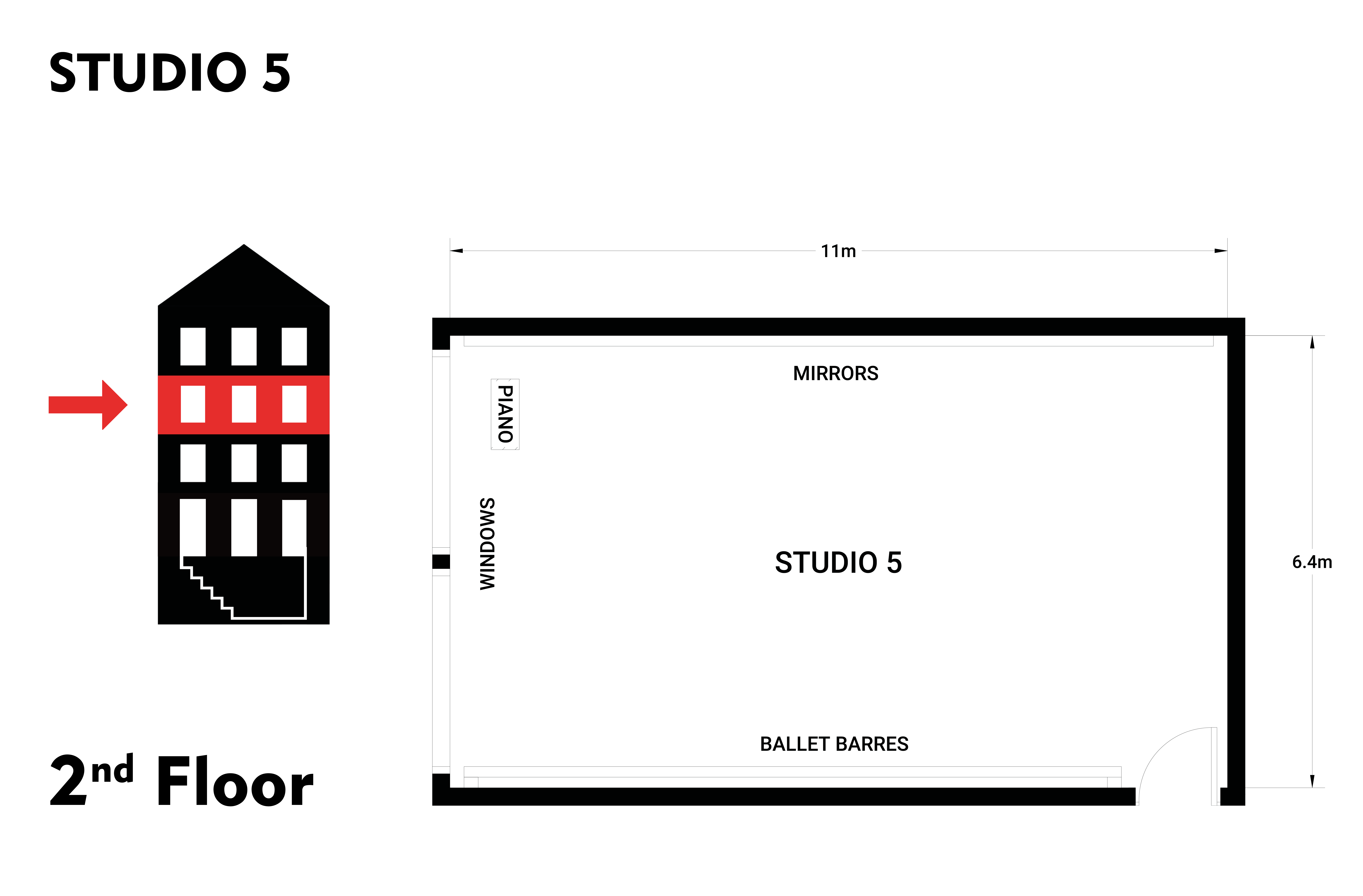 Hire Studio 5 at Danceworks London in Mayfair
