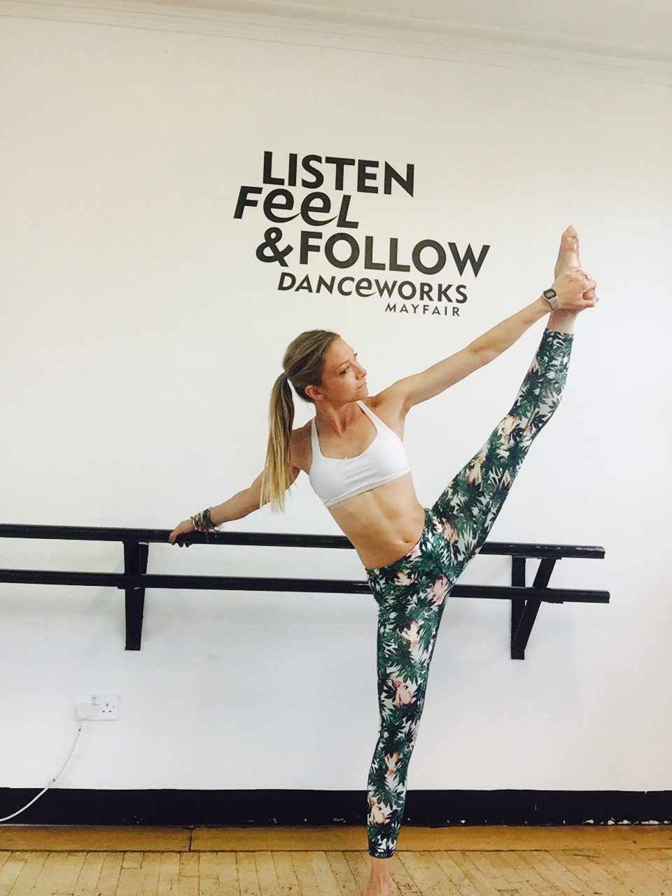 Beach Body Barre class with Lucy Potucek at Danceworks in Central London