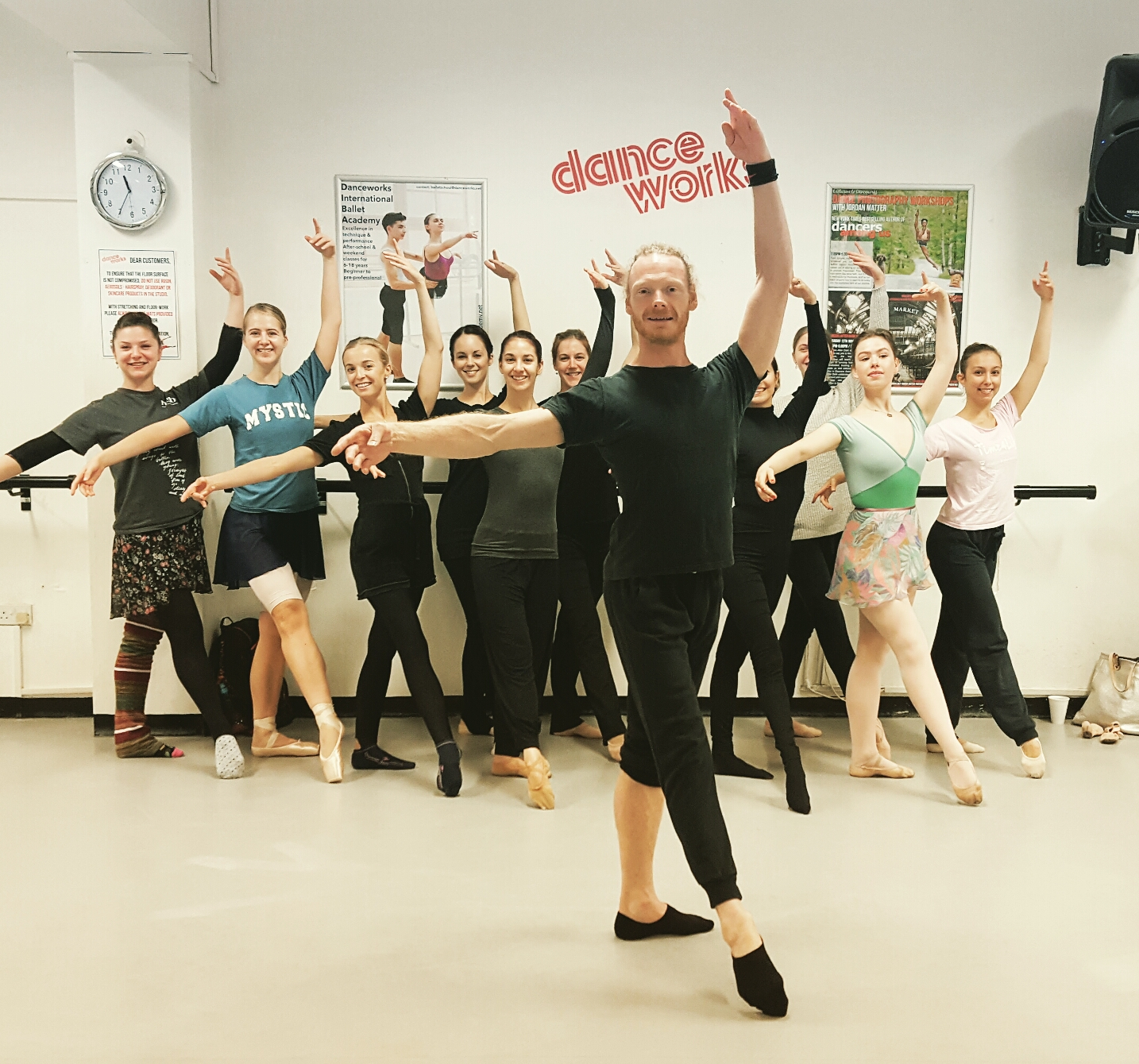 Classical ballet class with Adam Pudney at Danceworks in London
