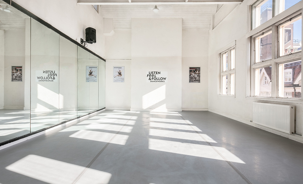 Danceworks dance and ballet studio booking in Central London