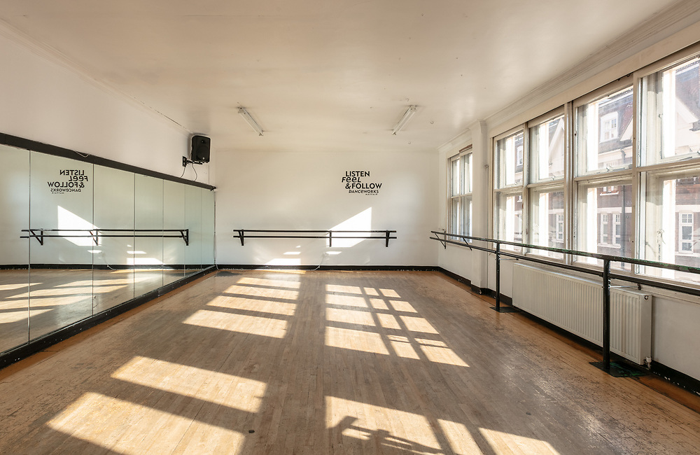 Danceworks dance and ballet studio hire in Central London