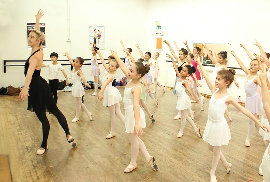 Nathalie Harrison guest teaching at Danceworks Ballet Academy Summer School Intensive course in London