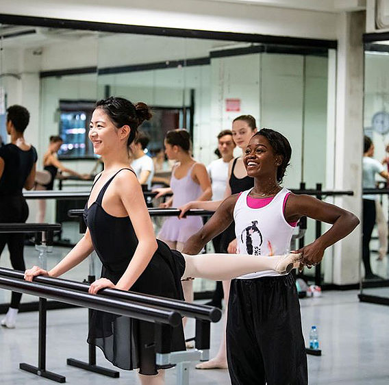 Michaela DePrince guest teaching at Danceworks Ballet Academy Summer School Intensive course in London