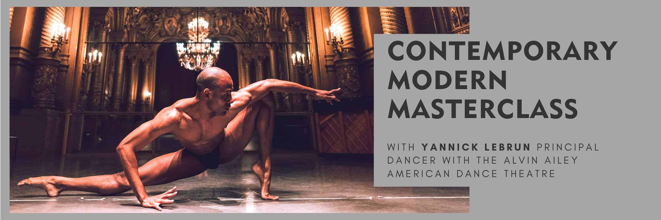 Masterclass with Yannick Lebrun at Danceworks